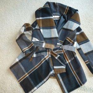 Chicwish Prairie Check Coat